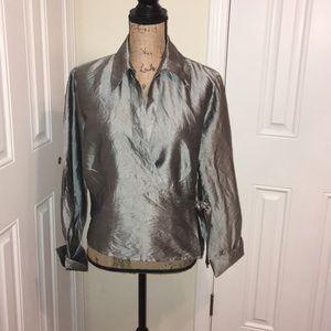 Allison Taylor size 16 silk blouse used